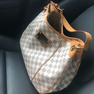 Authentic Louis Vuitton Galeria PM Damier Azur